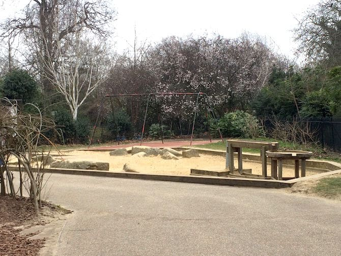 regents park playground hanover gate swings