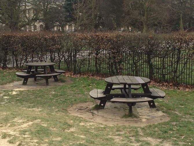 regents park playground hanover gate tables