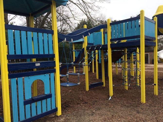 regents park playground hanover gate yellow playground close up