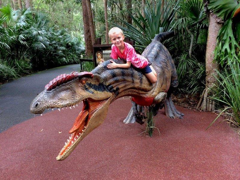 australia zoo dinosaur ned pic