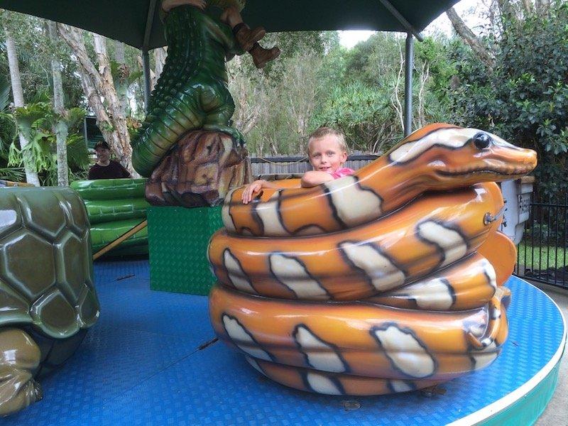 carnival rides at australia zoo pic
