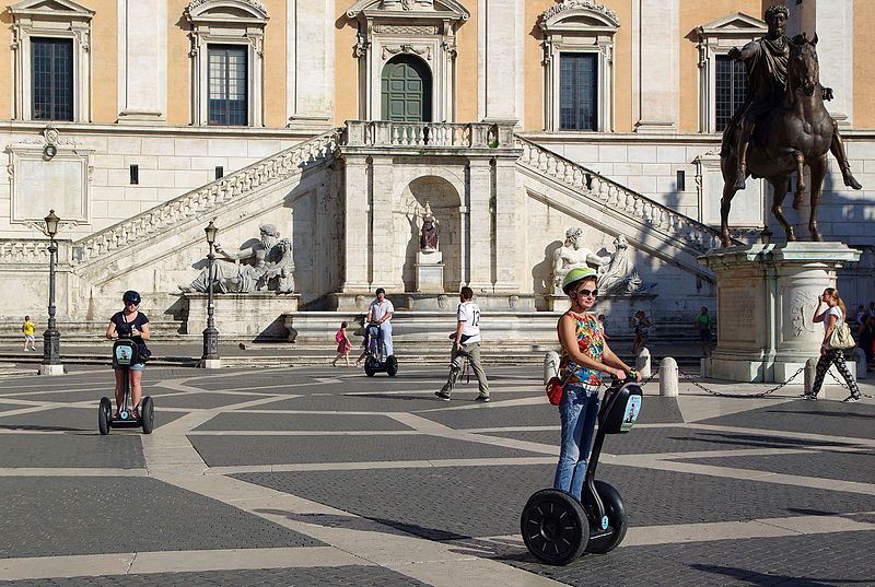 rome with teenagers - take a segway tour
