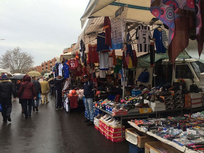 Porta Portese Market in Trastevere - Flea Market.