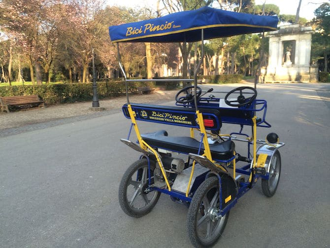 Rome Villa Borghese- Our Pedal Car pic