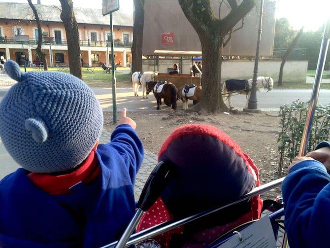 Rome Villa Borghese Pony rides pic