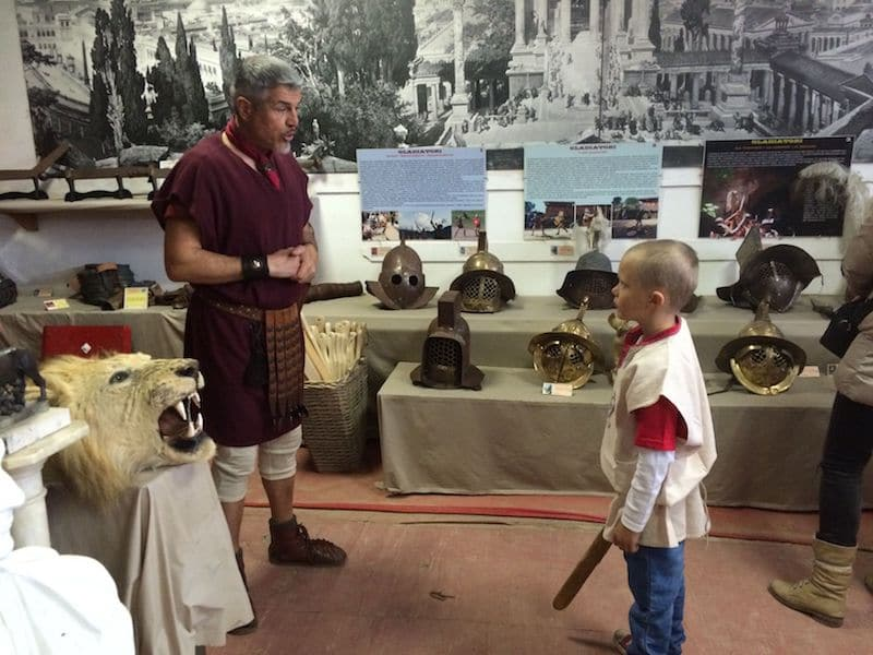 rome gladiator museum on the best rome tours for kids