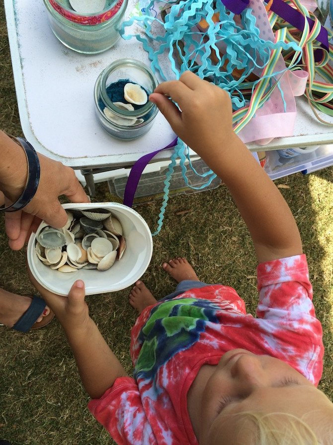 gold coast active and healthy shell collecting activity pic