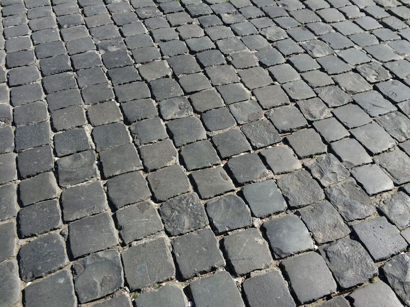 piazza del popolo rome cobblestones pic
