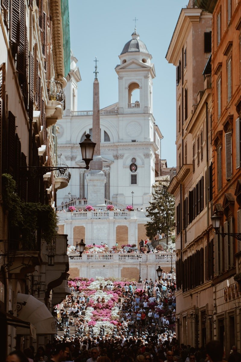 spanish steps celebration by alessia-cocconi