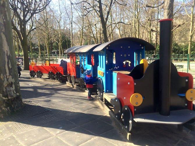 Jardin du Luxembourg Playground train pic