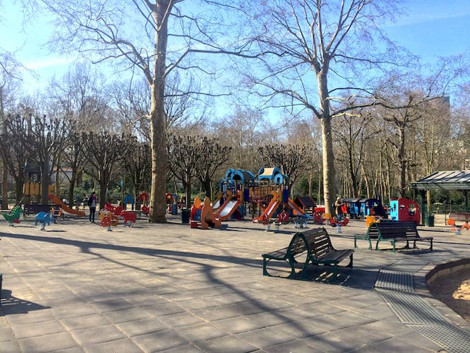 Jardin du Luxembourg Playground open space pic.