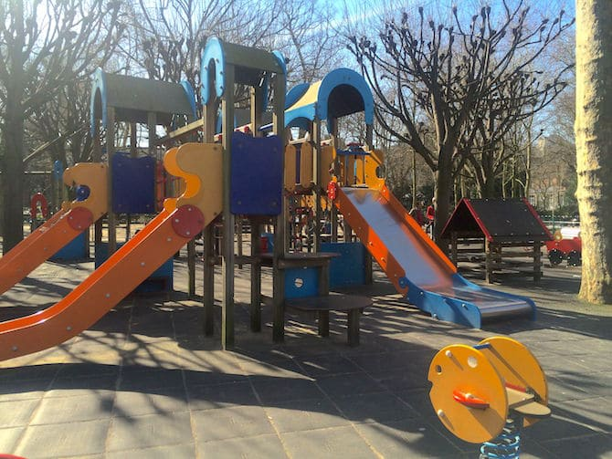 Jardin du Luxembourg Playground slides pic.