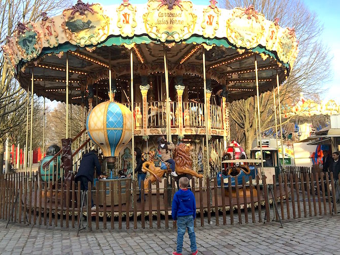 Paris Gardens carousel. For more SUPER DOOPER FUN ideas for family-friendly weekend adventures and travel with kids, all over the world, visit our FAMILY TRAVEL DIRECTORY www.roamthegnome.com.  Search by city.  Rated by kids and our travelling Gnome.