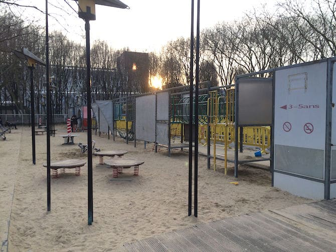 Paris Gardens Garden of Wind and Dunes playground.