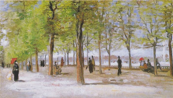 apple orchard at jardin du luxembourg pic