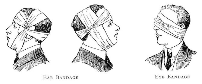 First aid bag- bandage illustration