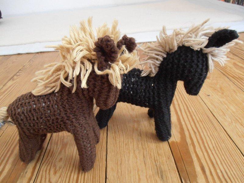 two waldorf toys horses by storebukkebruse