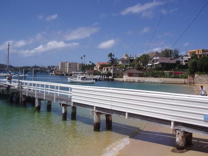 lady martins beach wharf, sydney harbour beaches
