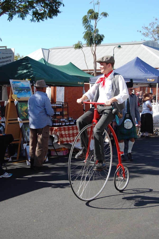 Mary Poppins Festival - old fashioned bicycle