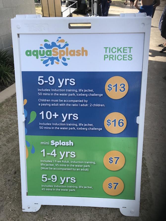 Inflatable Water Park - Aqua Splash Gold Coast, Southport Broadwater Parklands Pricing