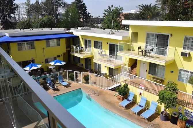 Magic Castle Hotel Los Angeles pool lifejackets pic
