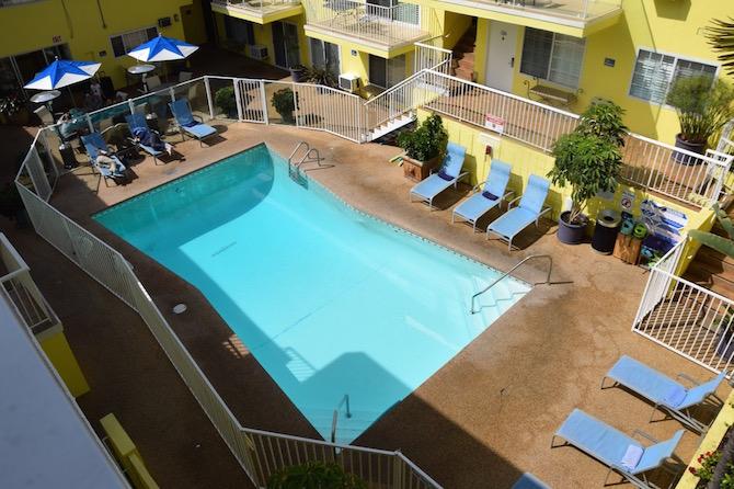 Magic Castle Hotel Los Angeles CA swimming pool pic