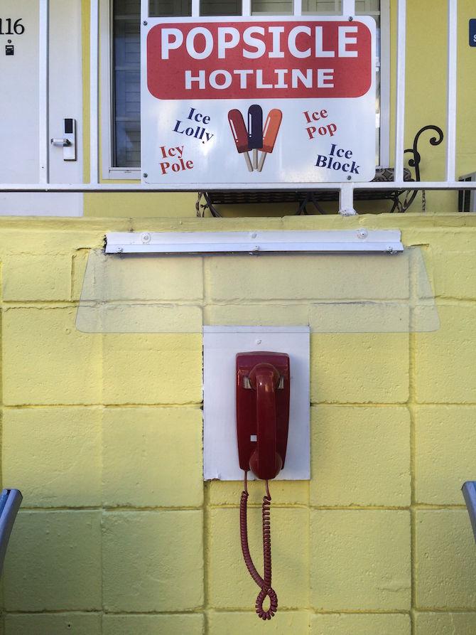 Magic Castle Hotel popsicle hotline phone pic
