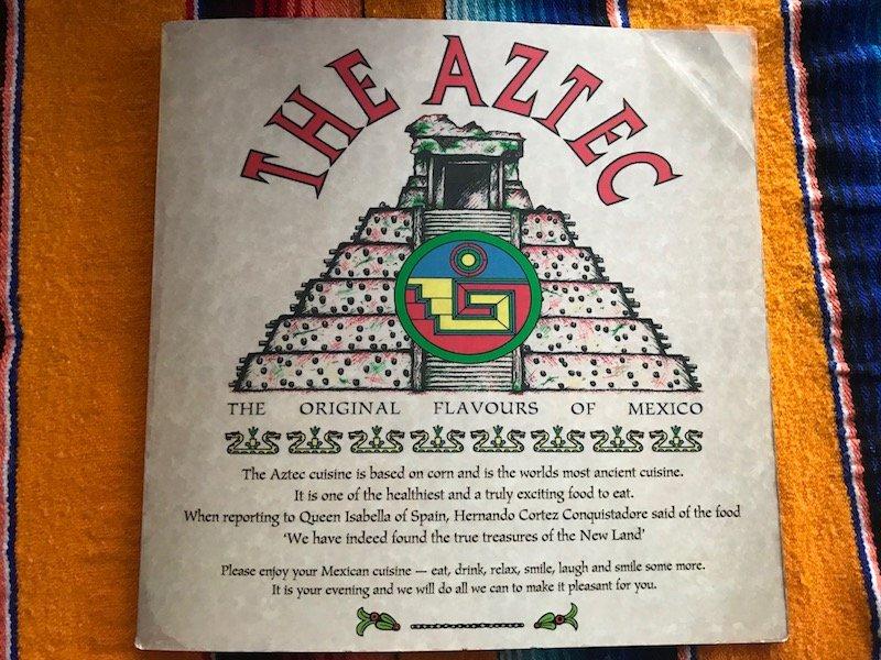 the aztec restaurant menu