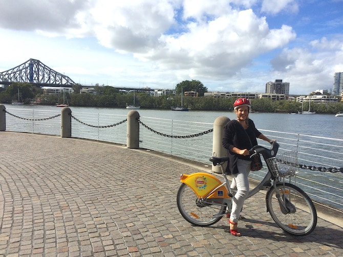 Roam the Gnome Family Travel Directory - Enjoy FREE City Cycle Bicycle Hire Brisbane for adults. BYO kids bikes and helmets