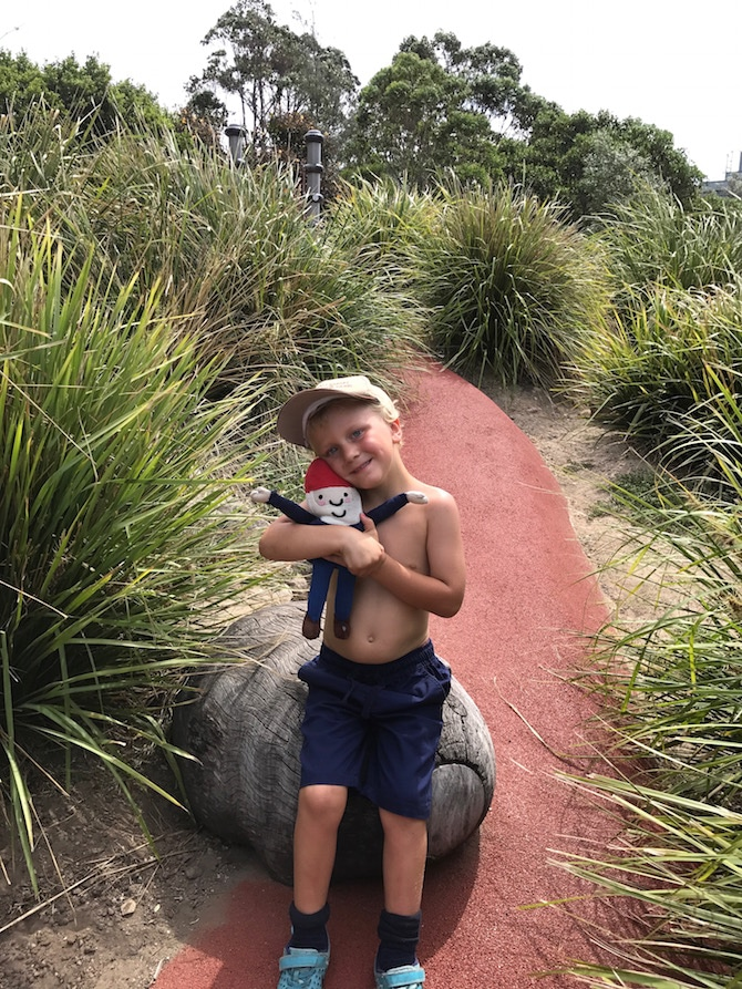 Sydney Park Playground sundial pic