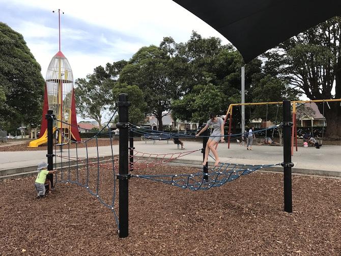 Enmore Park Marrickville_climbing net pic