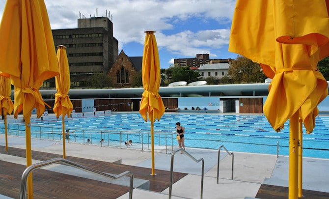 Prince Alfred Park Pool Umbrellas for shade