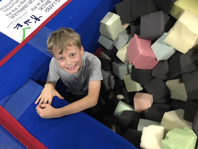 Spring Loaded Trampoline Park Tweed Heads Banora Point foam pit pic