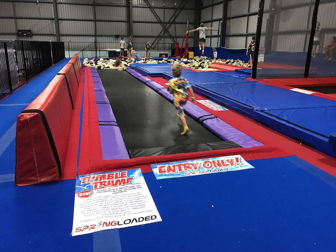 Spring Loaded Trampoline Park Tweed Heads Banora Point long trampolines pic