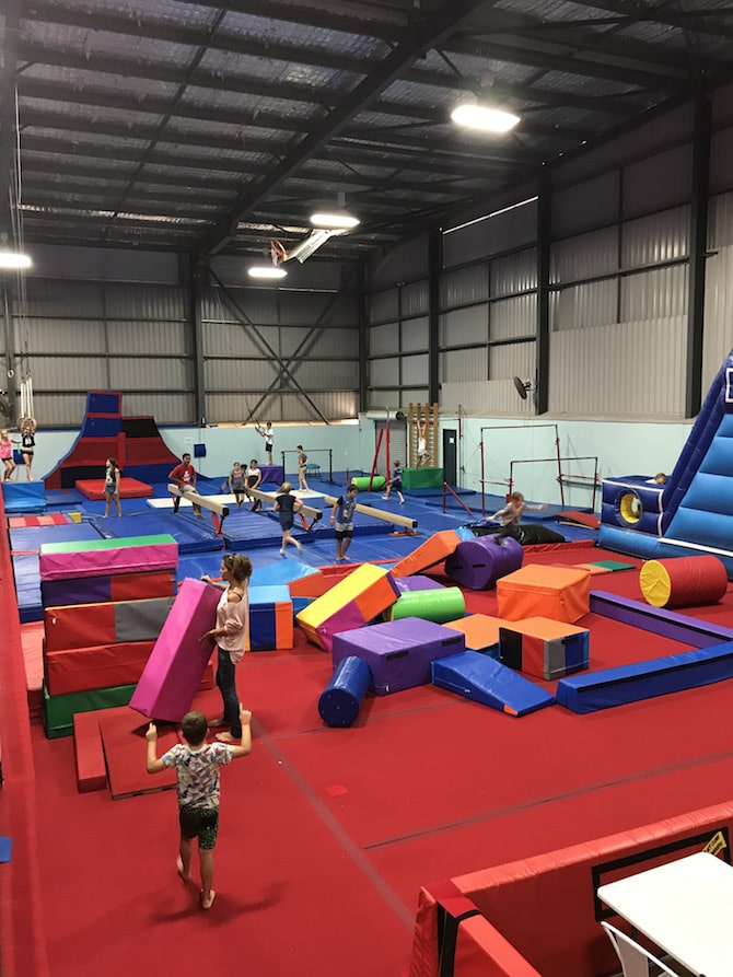 Spring Loaded Trampoline Park Tweed Heads Banora Point obstacle course pic