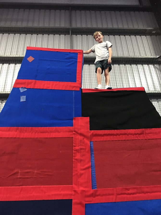 Spring Loaded Trampoline Park Tweed Heads Banora Point parkour wedge pic