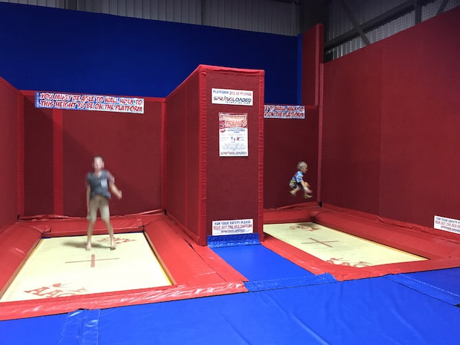 Spring Loaded Trampoline Park Tweed Heads Banora Point performance zone pic