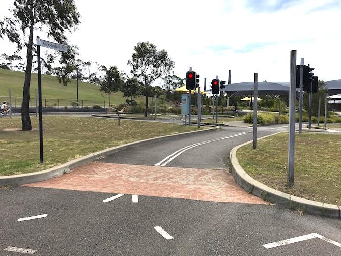 Sydney Park Bike Track cycle centre pic