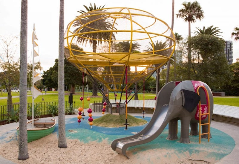 photo - Prince Alfred Park Playground elephant slide copy 2