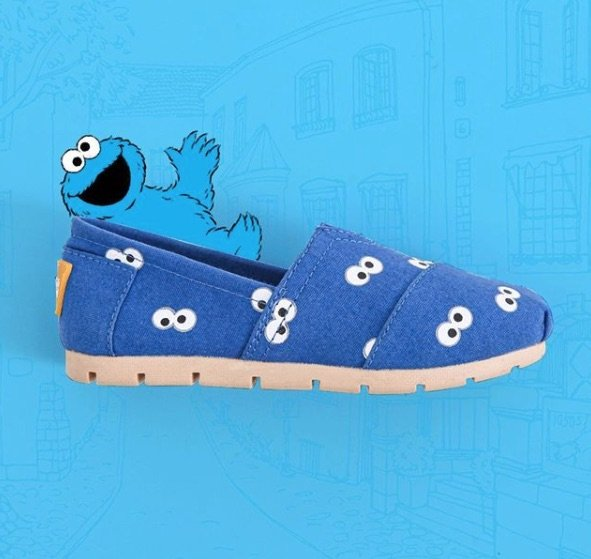 cookie monster shoes pic via Wakai Kids