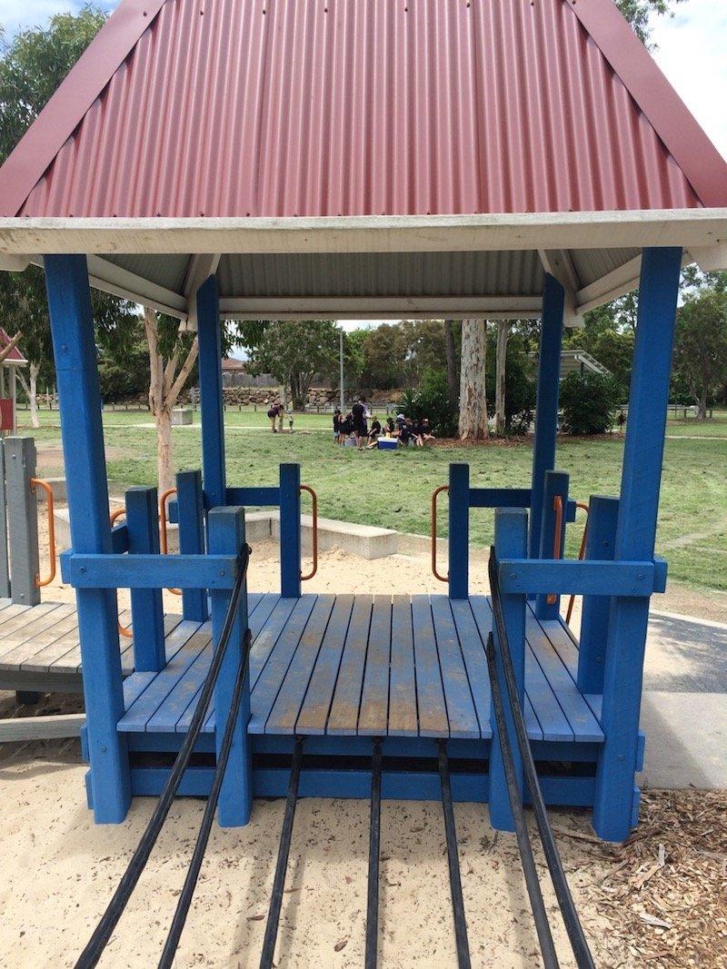 photo - hidden world playground fitzgibbon blue hut
