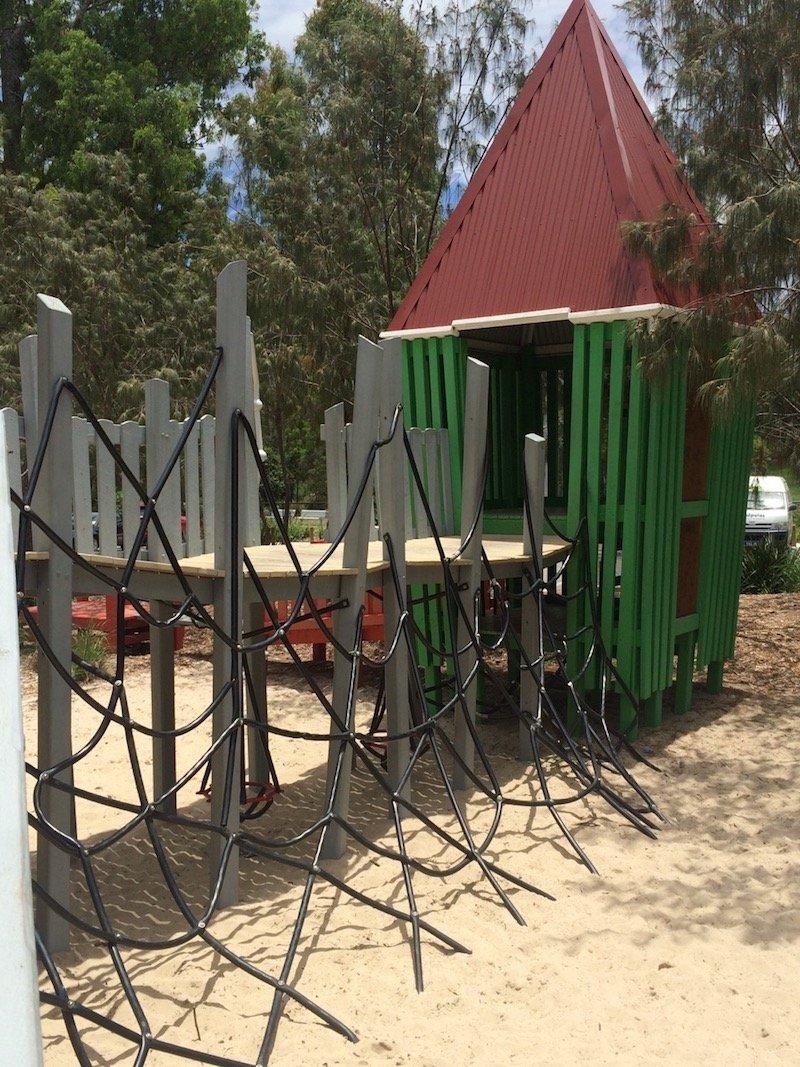 photo - hidden world playground fitzgibbon climbing net