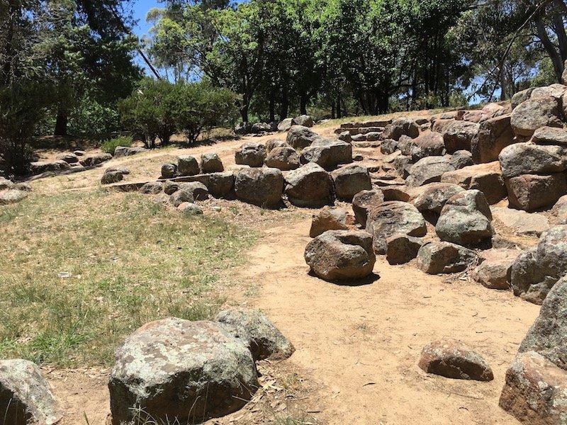 Canberra Yarralumla Park boulders pic