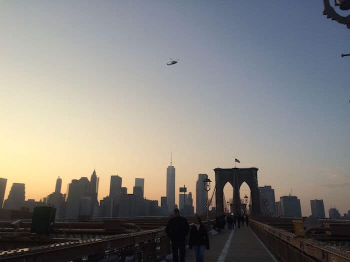 Visit Roam the Gnome Family Travel Directory for MORE SUPER DOOPER FUN ideas for family travel. Search by City. Photo- Brooklyn Bridge Walk at sunset
