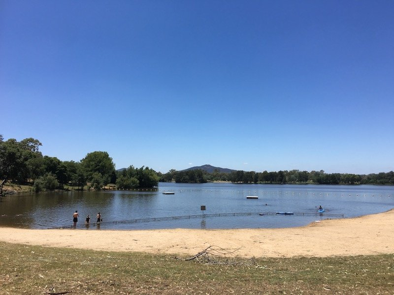 Weston Park Yarralumla Canberra swimming spot for families pic