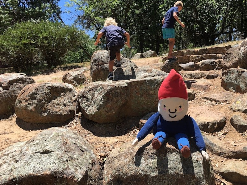 Yarralumla Park nature play area with roam the gnome pic