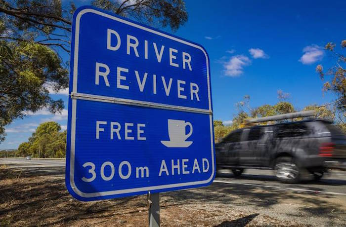 Visit ROAM THE GNOME Family Travel Directory for MORE SUPER DOOPER FUN ideas for family-friendly travel around the world. Search by City. Photo - driver reviver australia sign