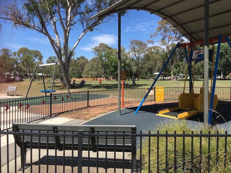 kambah adventure playground canberra all abilities swing pic
