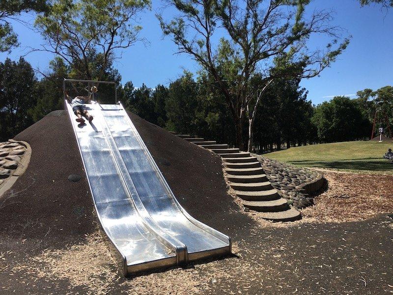 kambah playground dual slides pic
