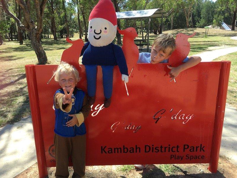 kambah adventure playground sign pic